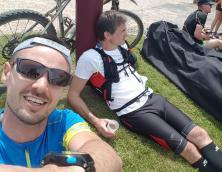 Thomas + David après la course